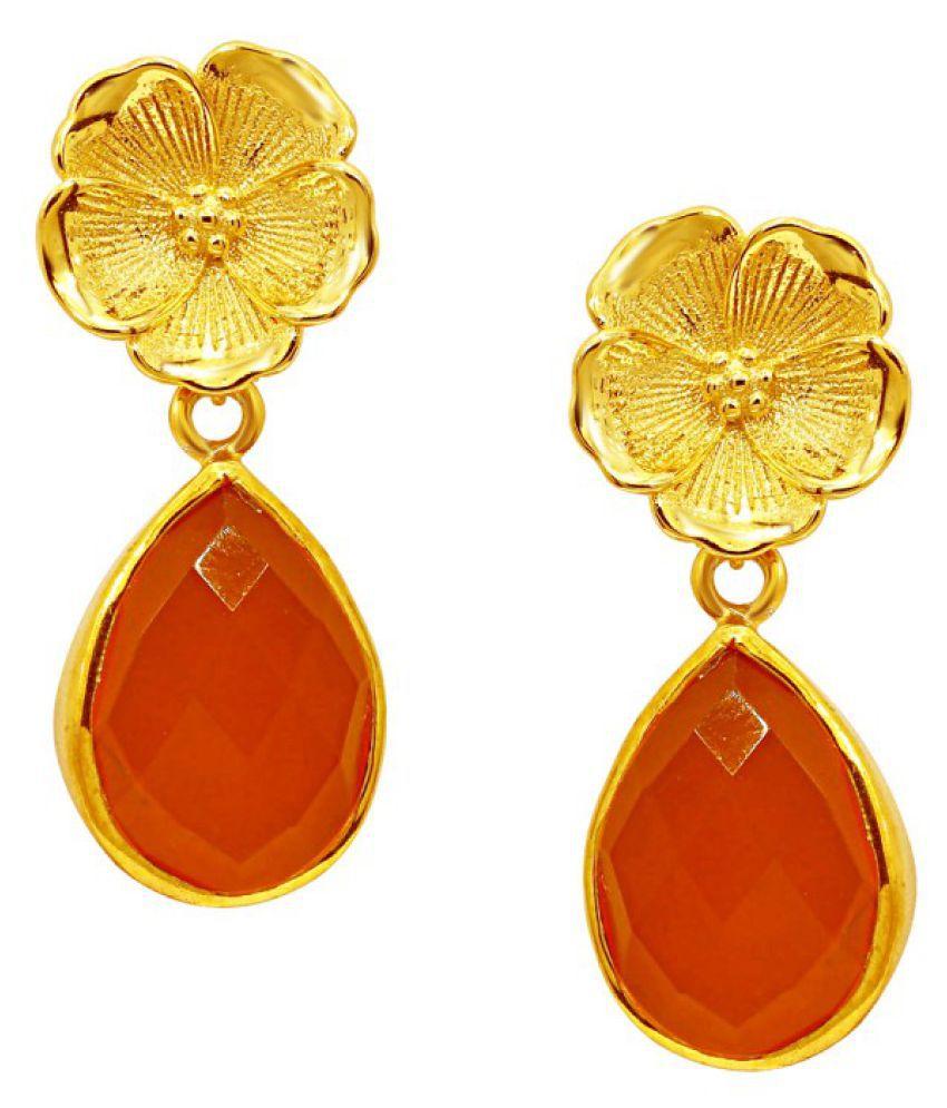 CS Jewellers 92.5 Silver Cubic zirconia Drop Earrings