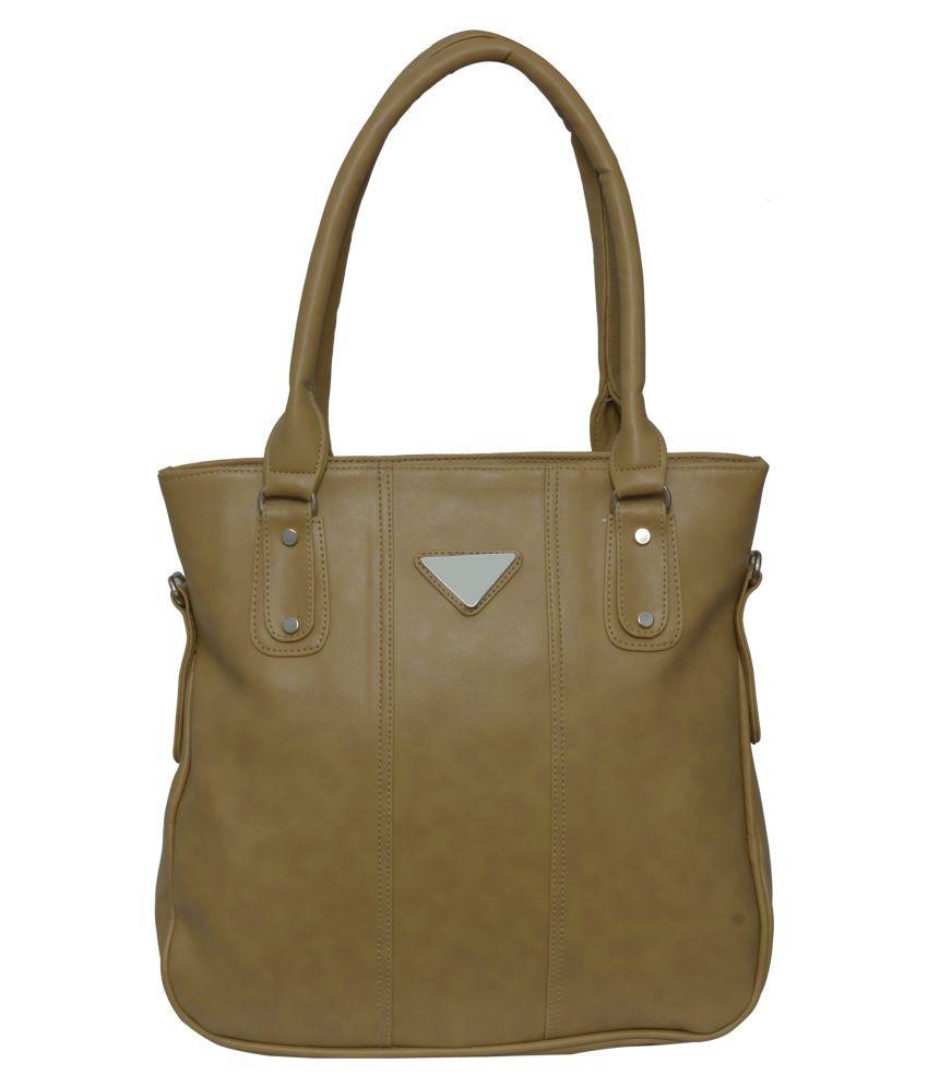 Rehan's Gray Faux Leather Shoulder Bag