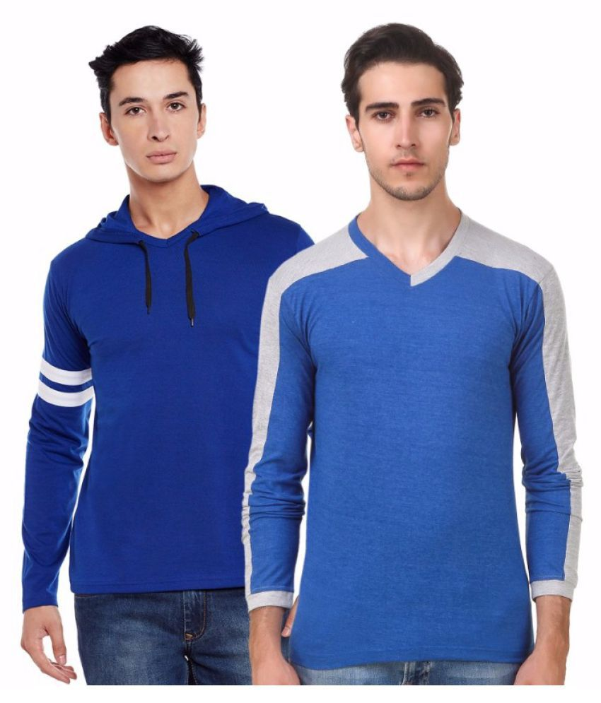 Sen Voler Blue Hooded T-Shirt