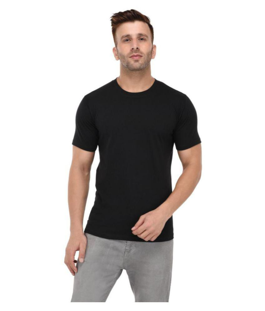 BKS COLLECTION Black Round T-Shirt