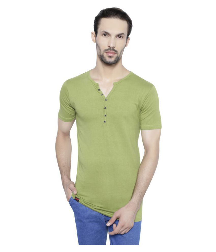 My Styles Green Henley T-Shirt