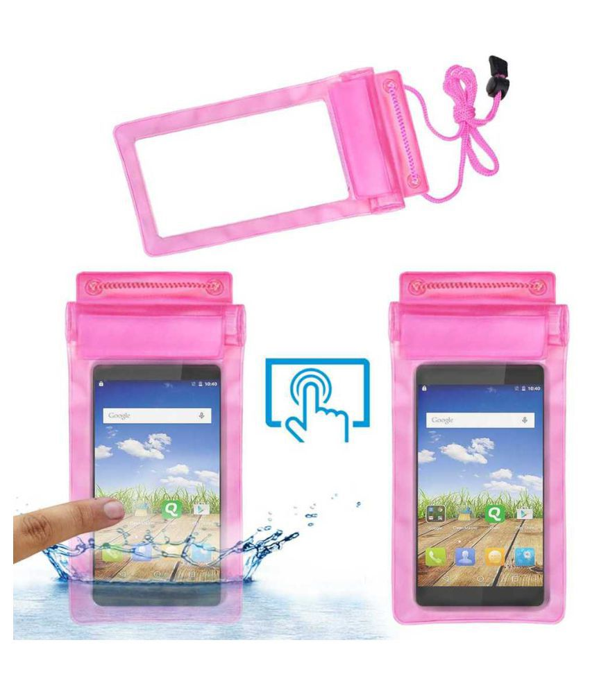 Micromax Canvas Mega E353 Holster Cover by ACM - Pink