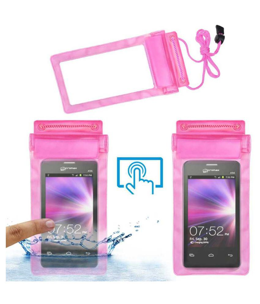 Micromax A56 Holster Cover by ACM - Pink