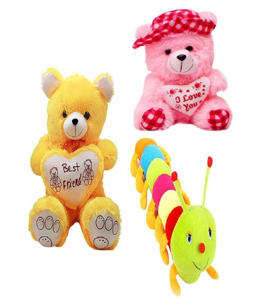 kashish toys jumbo yellow teddy bear 60 cm 2 feet get a free