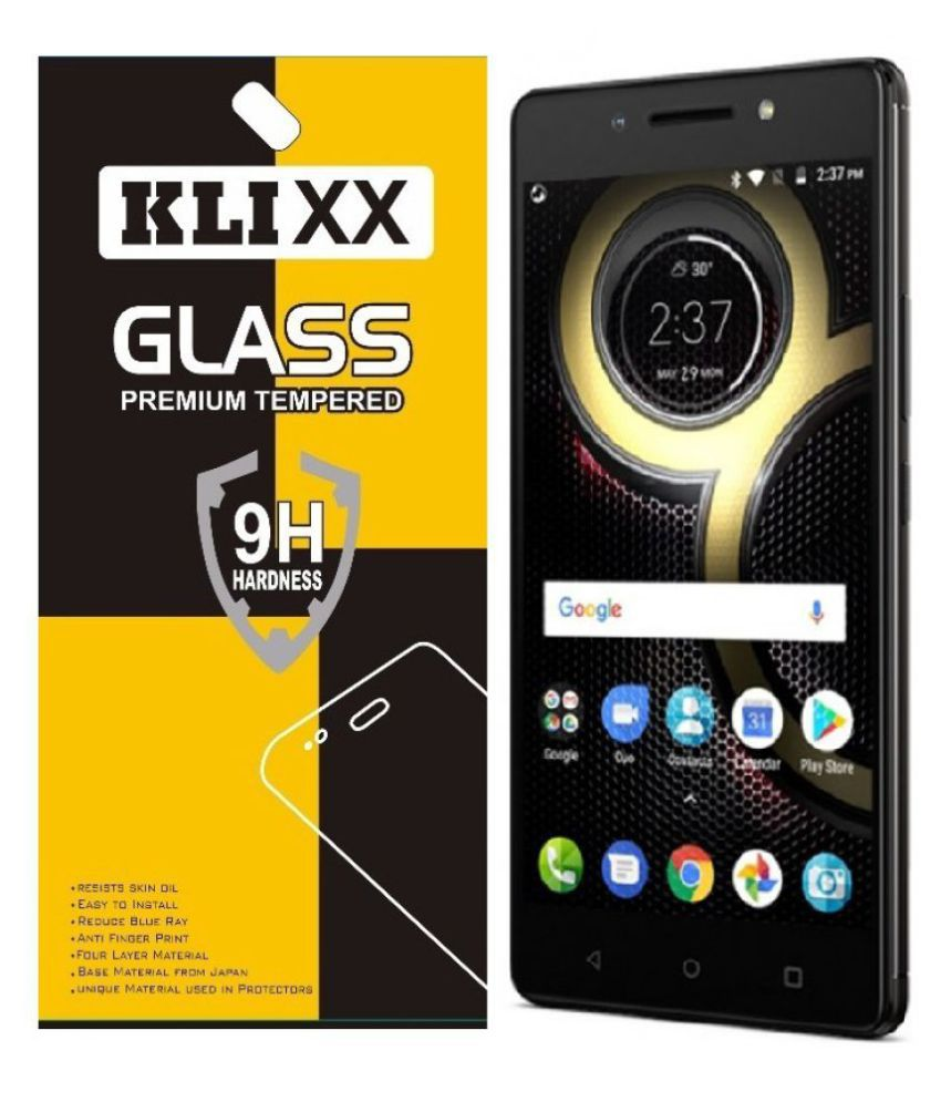 new product 138f8 e8a66 Lenovo K8 Note Tempered Glass Screen Guard By Klixx