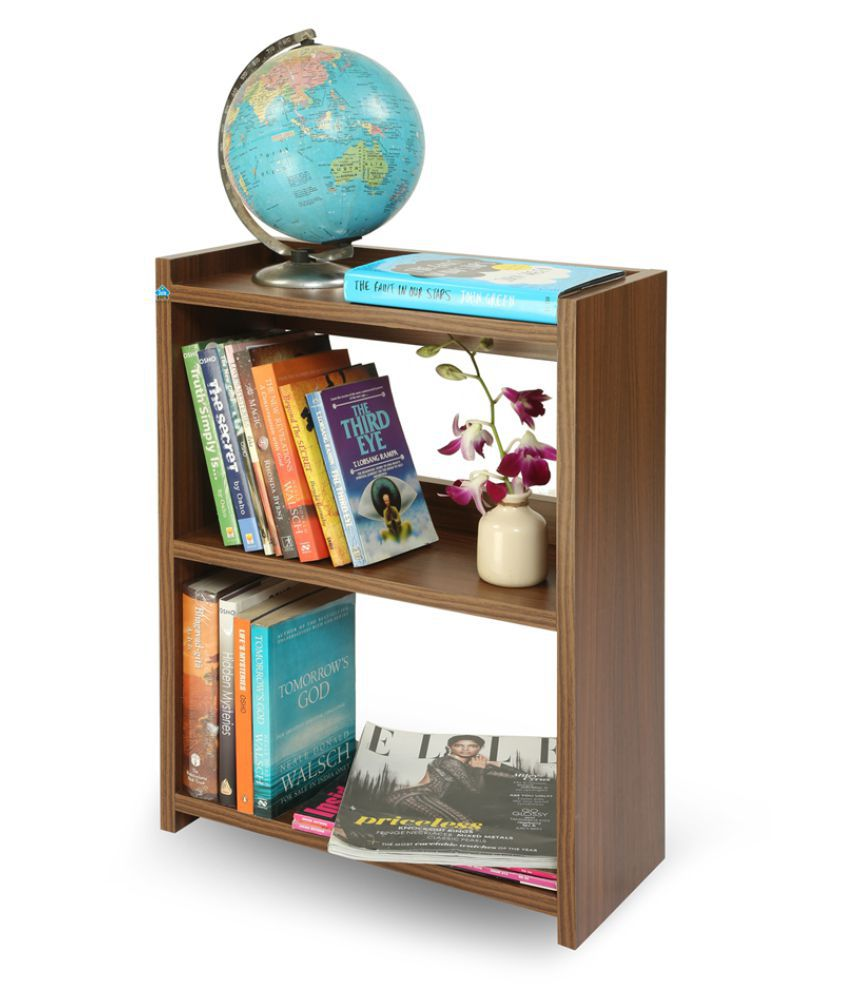 Delite Kom Blossom Small Engineered Wood Open Book Shelf  Finish Color   Brown