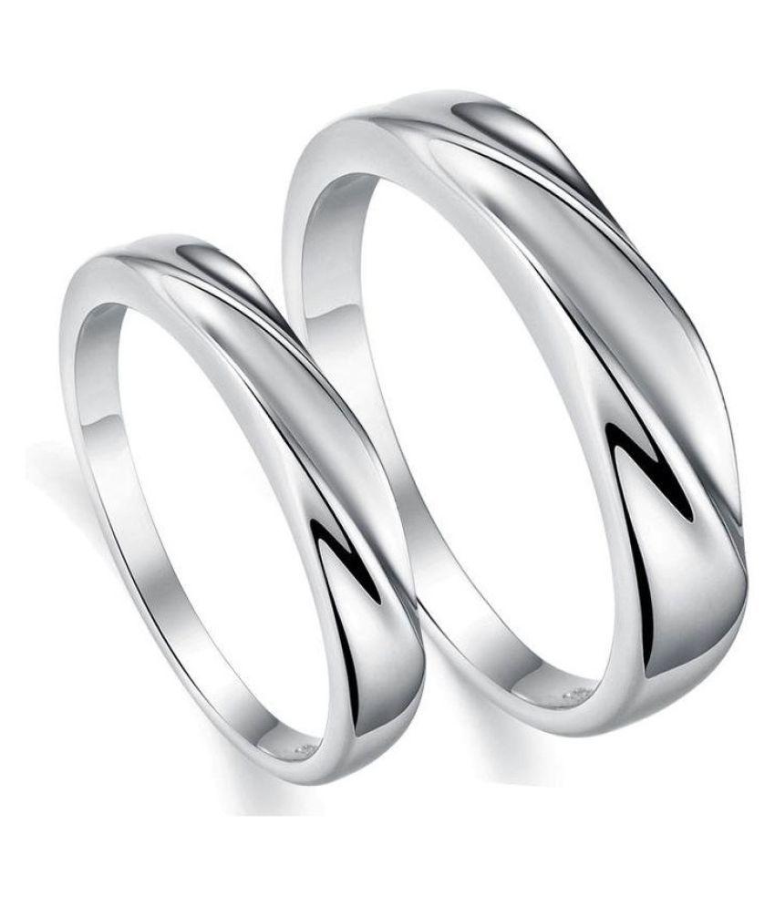 ZIVAHA 92.5 Silver Couple Bands