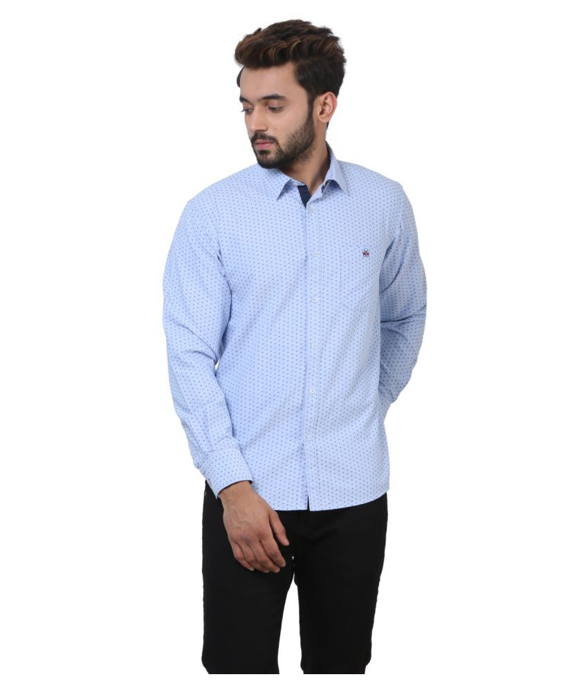 Crimsoune Club Blue Casual Slim Fit Shirt