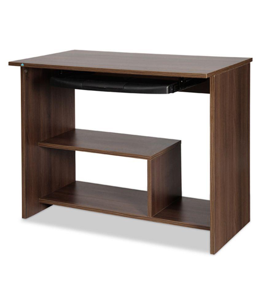 Delite kom lucky engineered wood computer desk color acacia dark matt finish
