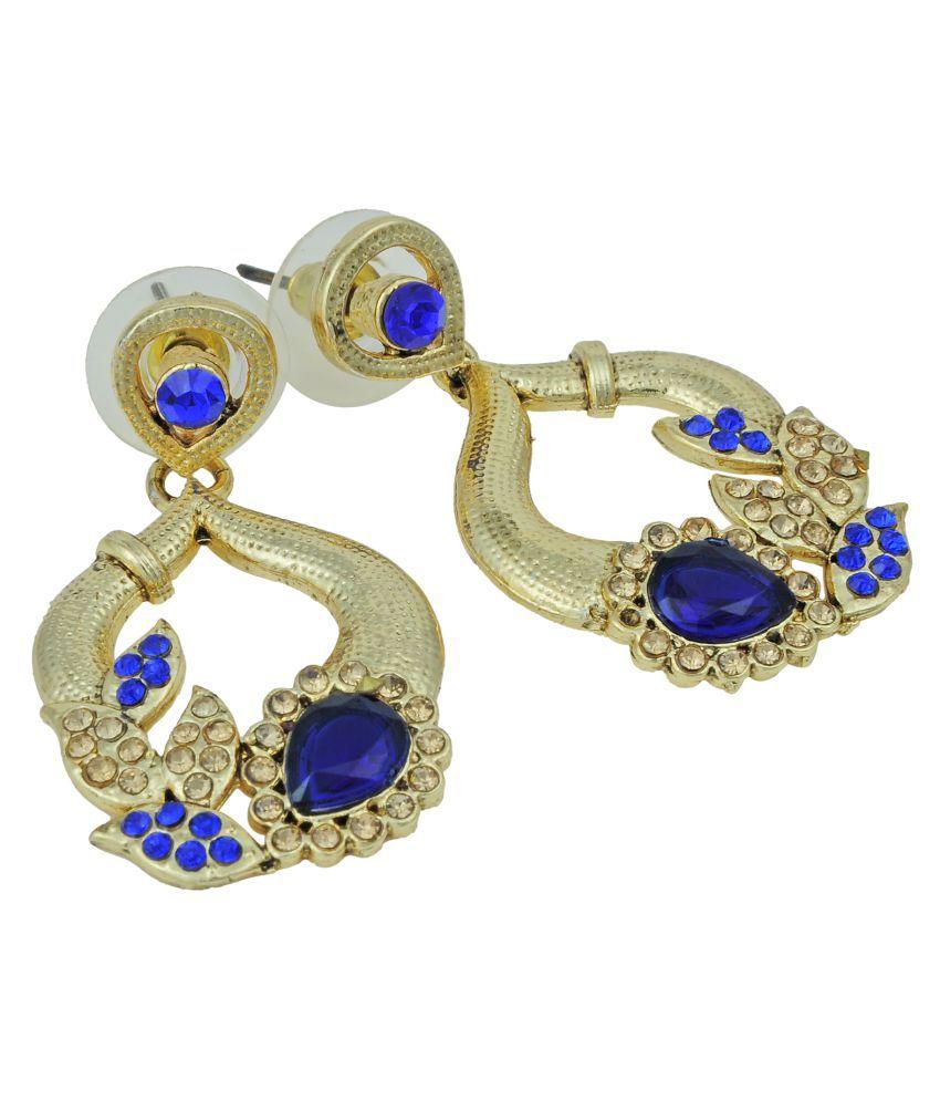 Pankh Antique Blue Topaz Earrings