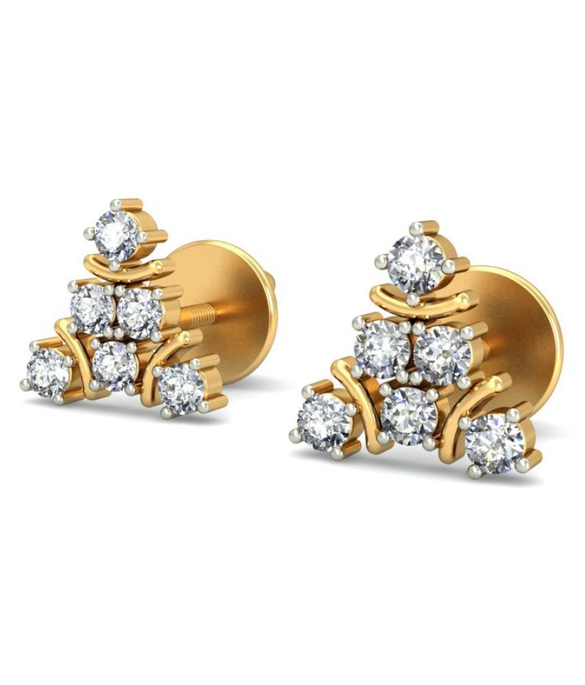 jewelsnext 18k BIS Hallmarked Yellow Gold Diamond Studs