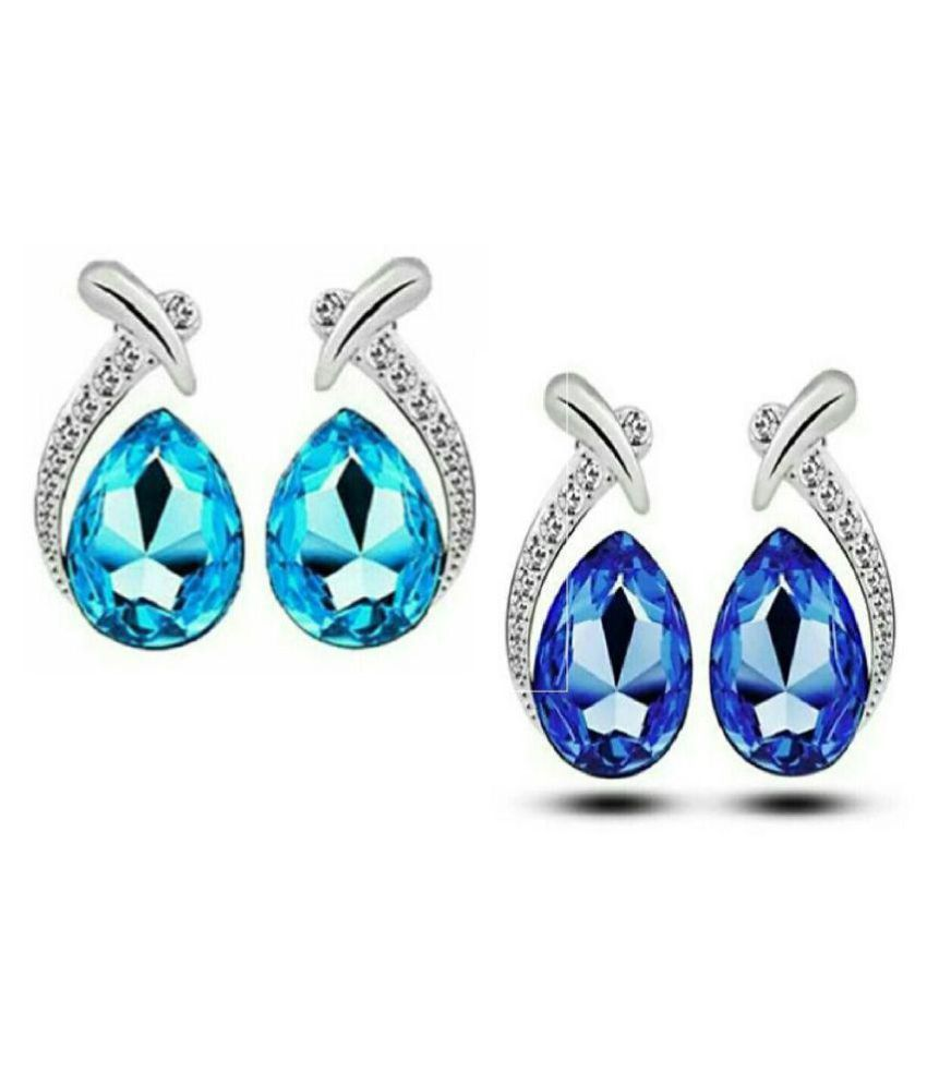 Fashion9 Stylish Party wear rhodium Plated antique Silver Jewellery Set for Girl