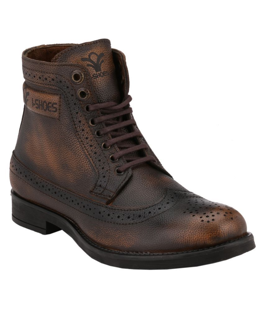 I-shoes Brown Casual Boot