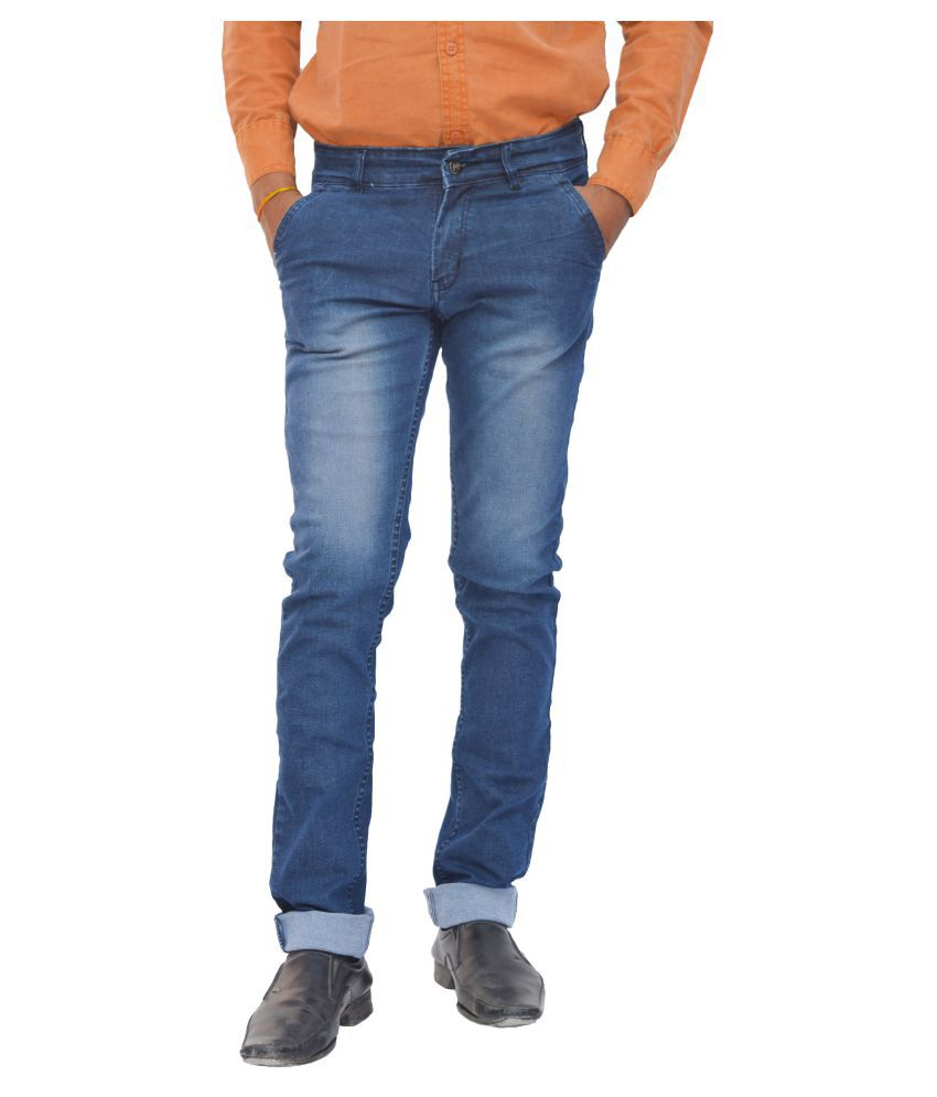 FunTree Light Blue Regular Fit Jeans