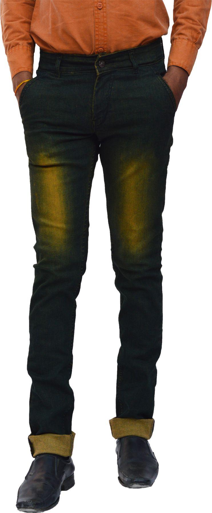 FunTree Light Green Regular Fit Jeans