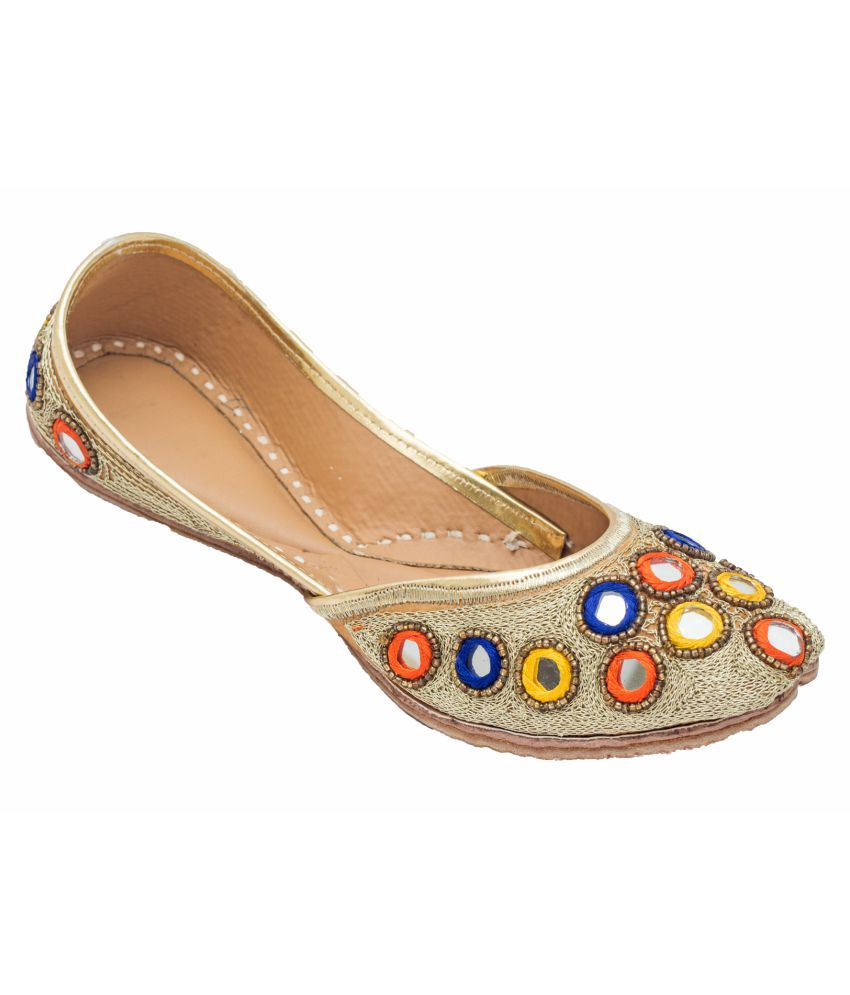 Royal Collection Multi Color Flat Ethnic Footwear