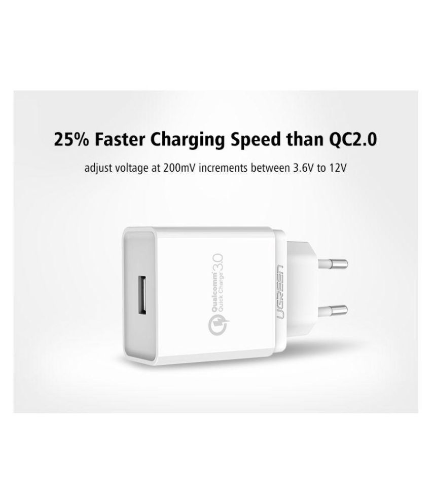Ugreen Car Mobile Charger CD122 White