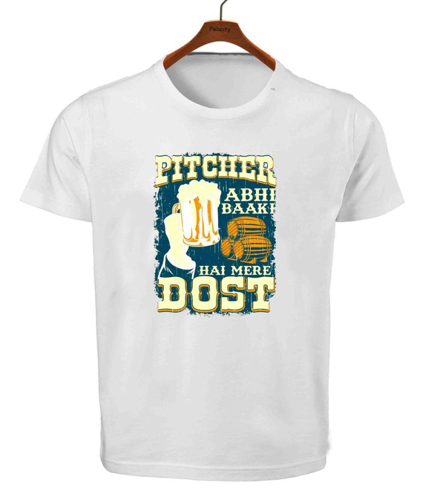 Ritzees Unisex Half Sleeve Dry Fit White Polyester T-shirt