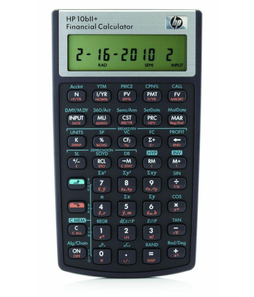 Online Financial Calculator >> Hp 10bii Financial Calculator Nw239aa Buy Online At Best Price
