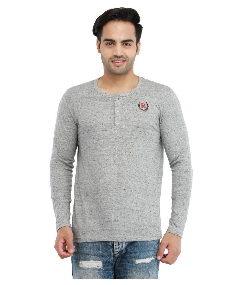 Rockhard Grey Henley T-Shirt