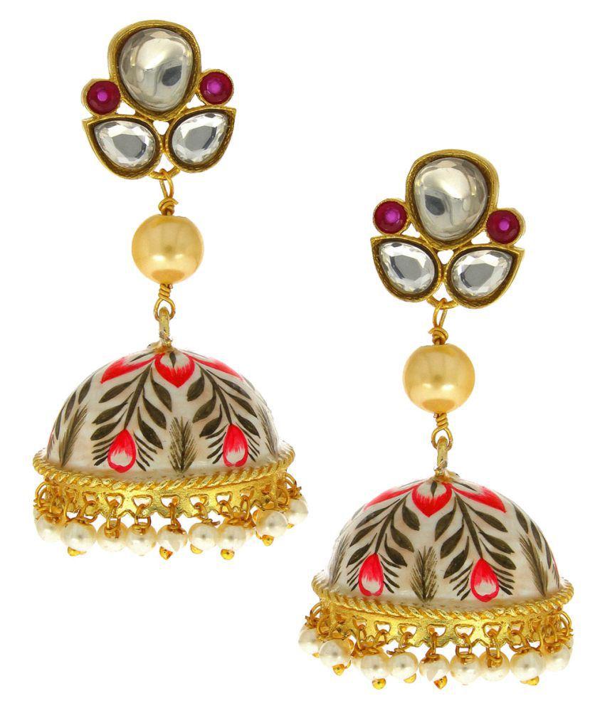 Anuradha Art Multi Colour Designer Classy Traditonal Jhumki/Jhumkas For Women/Girls