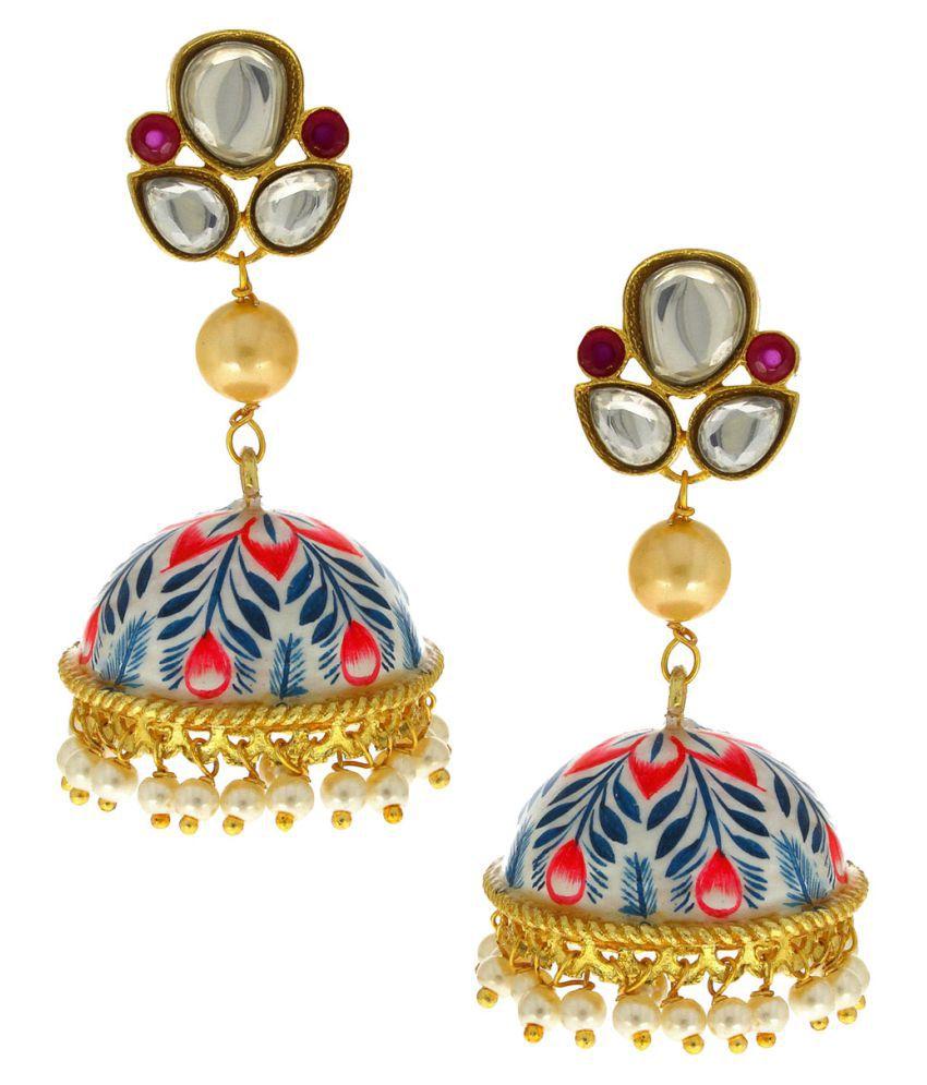 Anuradha Art Multi Colour Wonderful Classy Designer Traditonal Jhumki/Jhumkas For Women/Girls