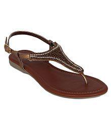 Flora Gold Flat Ethnic Footwear
