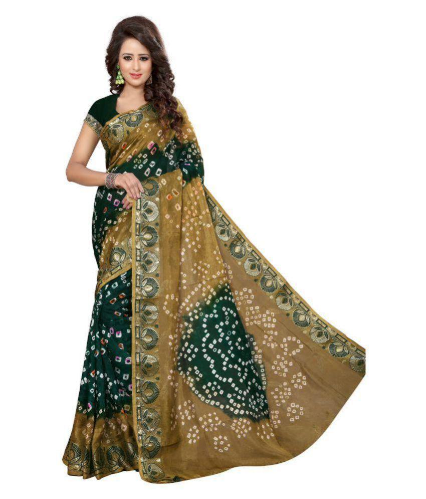 Harikrishna Enterprise Multicoloured Cotton Silk Saree