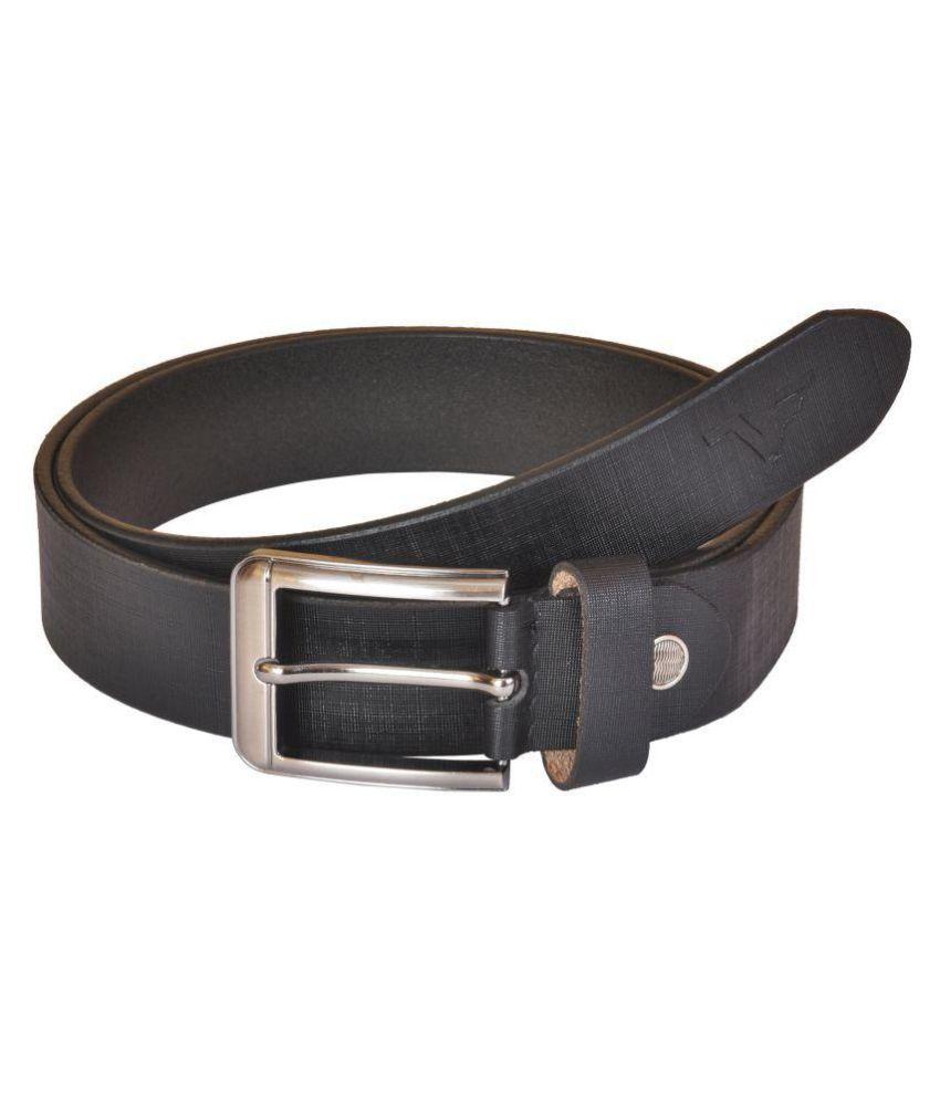 VENER FABICA Black Leather Formal Belts