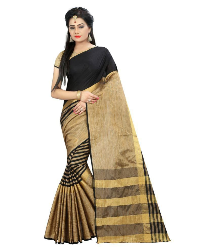 052caf862fc Pranshi Fashion Brown and Beige Cotton Silk Saree - Buy Pranshi Fashion  Brown and Beige Cotton Silk Saree Online at Low Price - Snapdeal.com