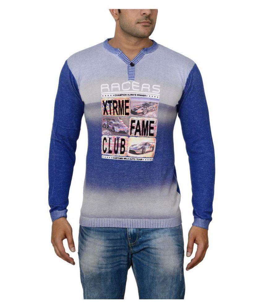 Raab Blue Henley T-Shirt