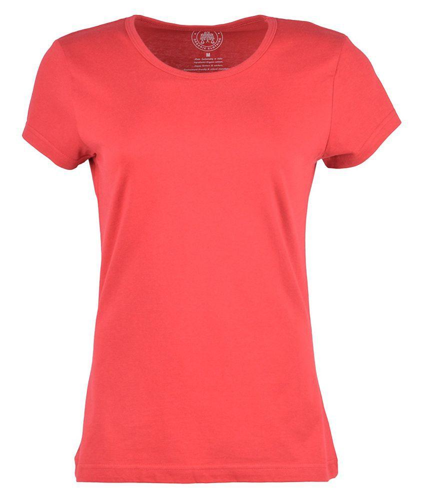 Woodwose Organic Clothing Maroon Round T-Shirt