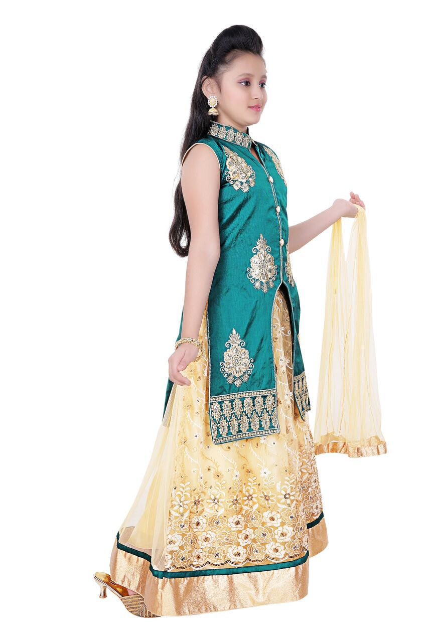 3f5ec56cce Saarah Multicolor Net Lehenga Choli Set Saarah Multicolor Net Lehenga Choli  Set ...
