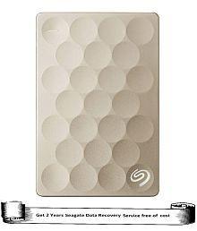Seagate Ultra Slim 1TB Portable External Hard Drive (Golden)