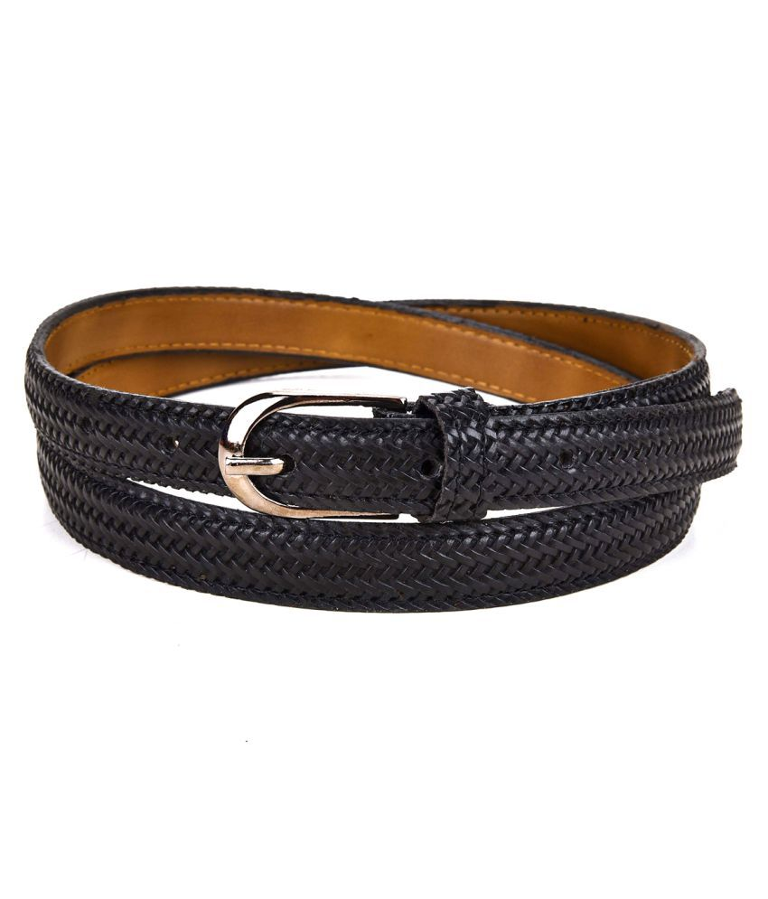 Ukart Black Faux Leather Casual Belts