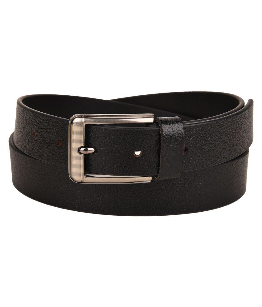 Ukart Black Leather Casual Belts