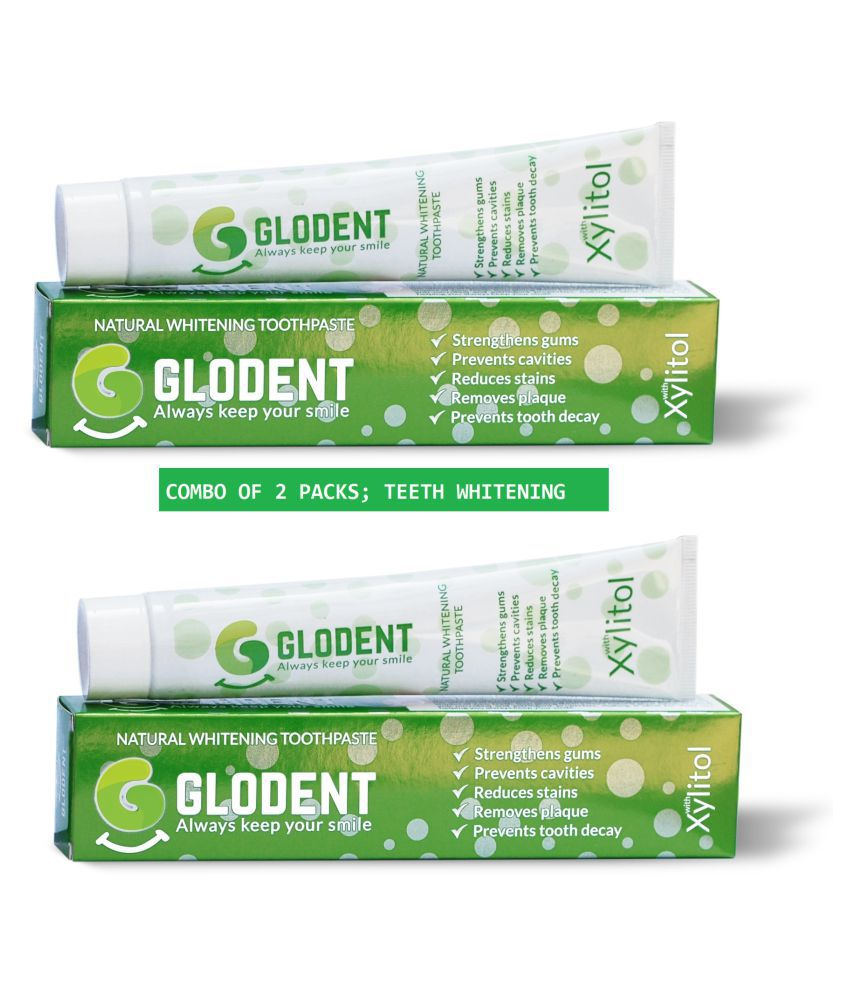 Glodent Natural Tooth Whitening Toothpaste 100gms (set Of 2)