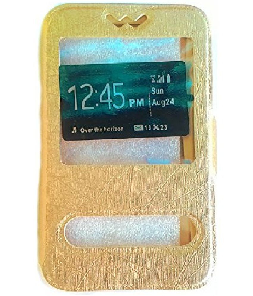 new style a614a 35ff4 Nokia C1 Flip Cover by MuditMobi - Golden