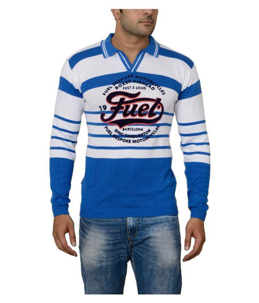 Raab Blue High Neck T-Shirt