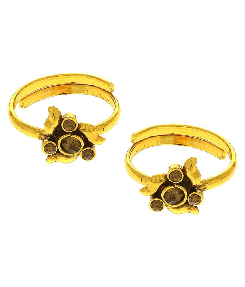 Anuradha Art Presenting Very Pretty Golden Finish Adorable Traditional Toe Rings For Women