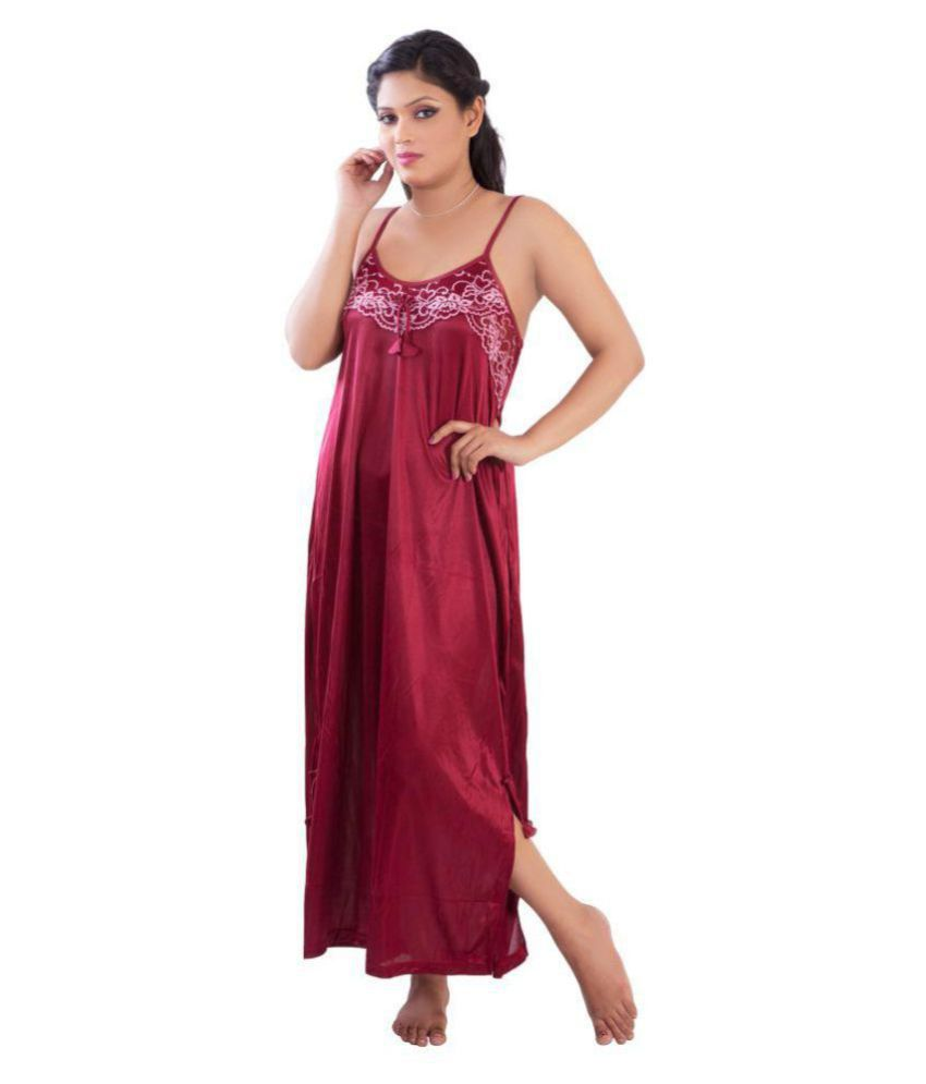 Buy Oe Erotic Satin Nighty & Night Gowns Online at Best Prices in ...
