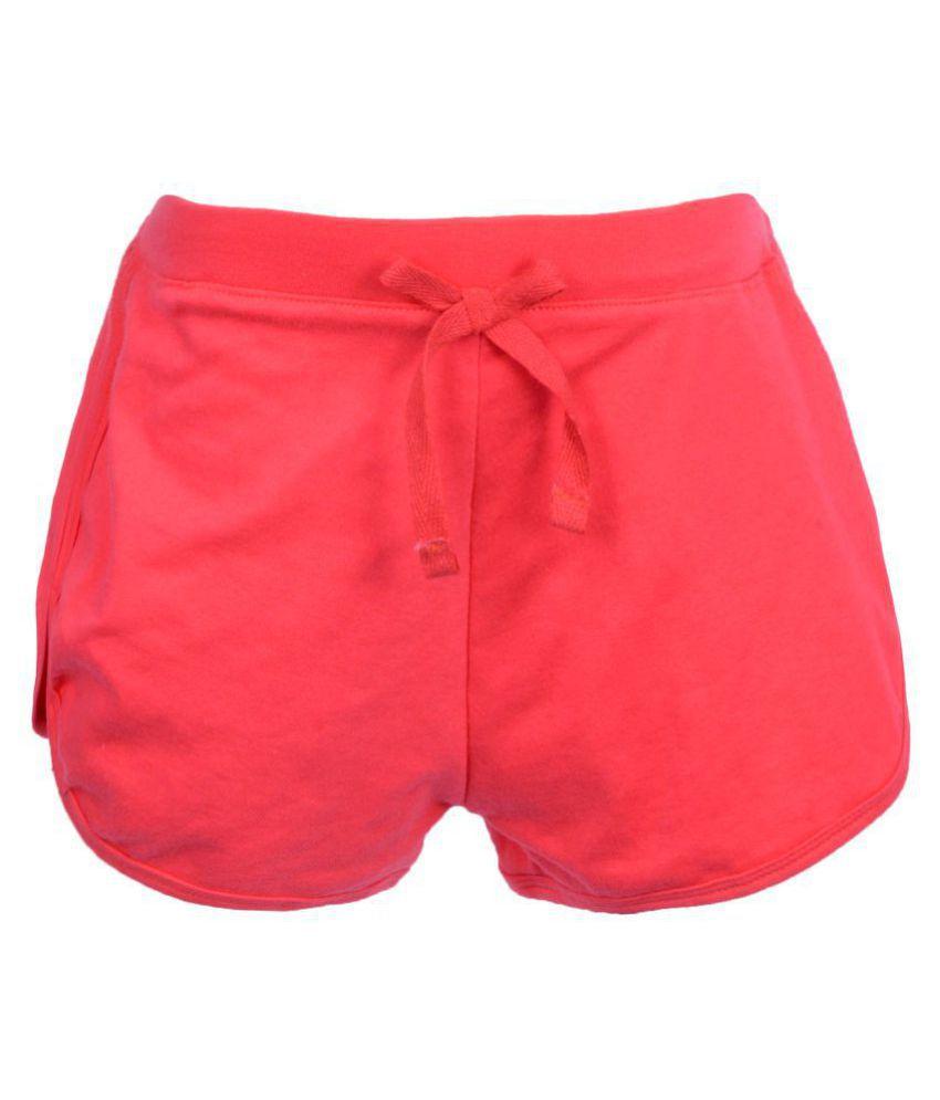 Gkidz Girls Solid Fushia Shorts with Bow