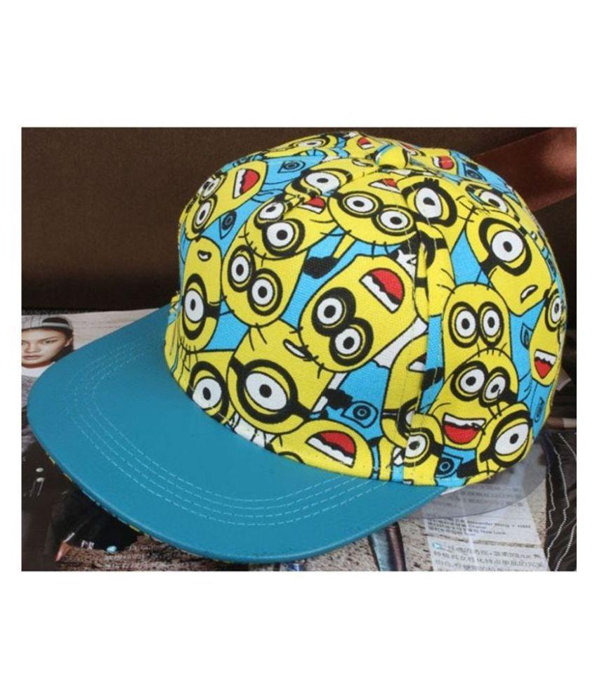 ed0a35b4a27 ... Minions Hiphop Snapback Cap Summer Cap for Boys   Girls(3-12 Years Kids  ...