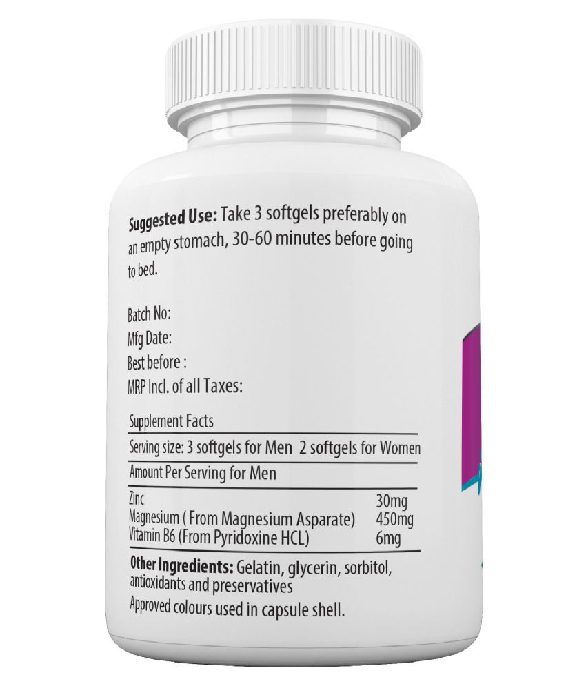 NATURYZ ZMA, Sports Recovery, Zinc, Magnesium Aspartate, Vitamin B6 Softgel  60 no s
