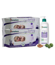 Himalaya Baby Lotion 400ml + Himalaya Soothing Baby Wipes 72 (2pcs)