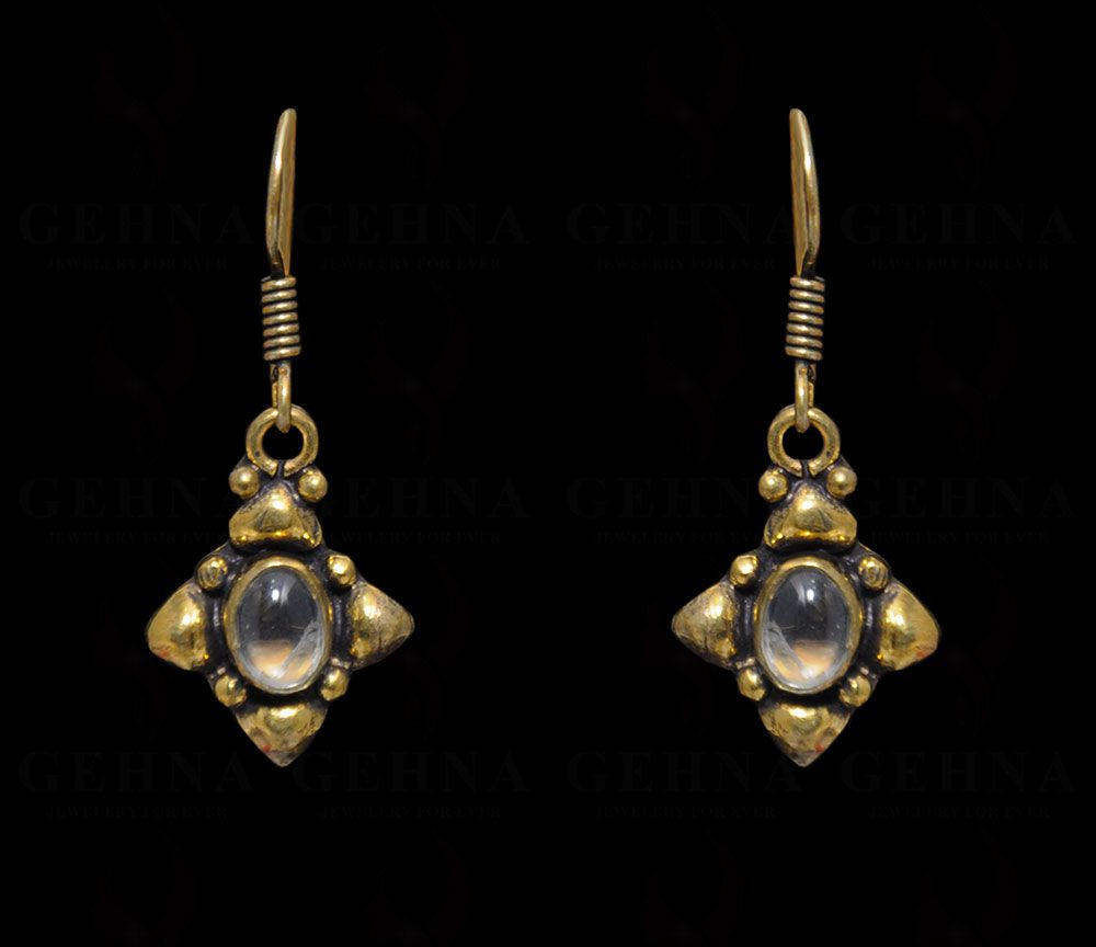 Lemon Topaz Gemstone Earring In .925 Silver Overlay