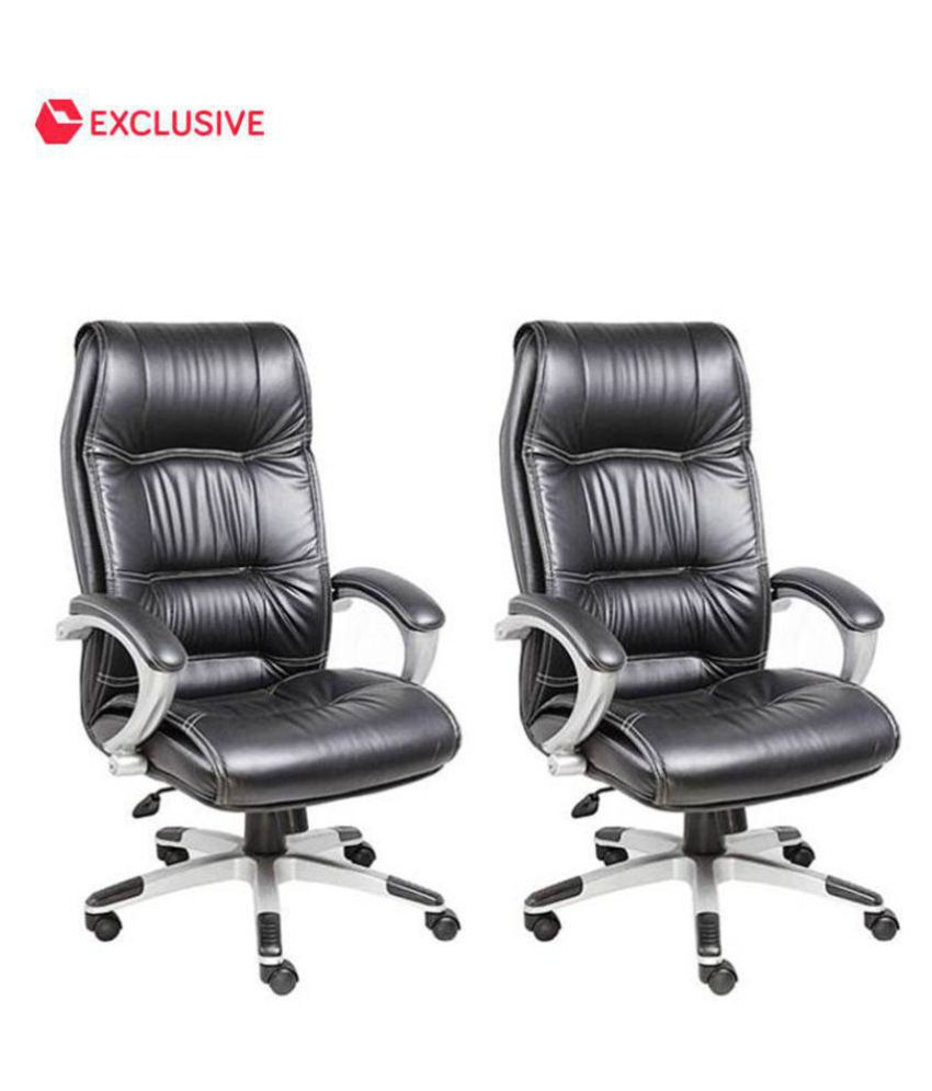 buy 1 high back executive leatherette office chair get 1. Black Bedroom Furniture Sets. Home Design Ideas