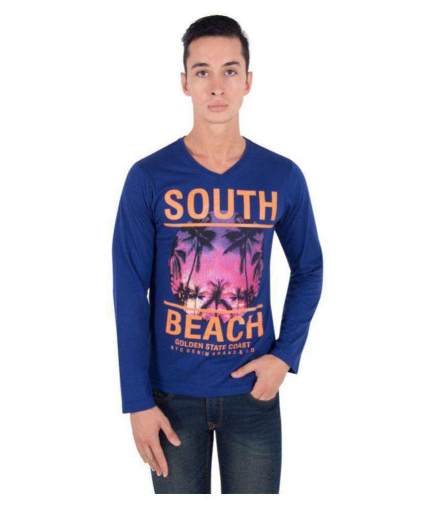 Zoravie Blue V-Neck T-Shirt