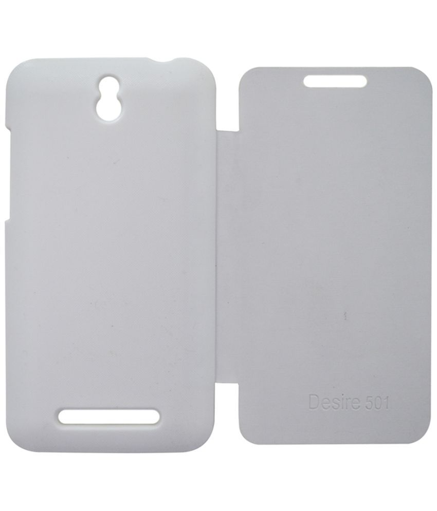 HTC Desire 501 Flip Cover by Rdcase - White