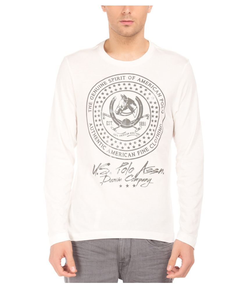 U.S. Polo Assn. White Round T-Shirt